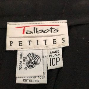 Talbots Made in USA pleated wool skirt
